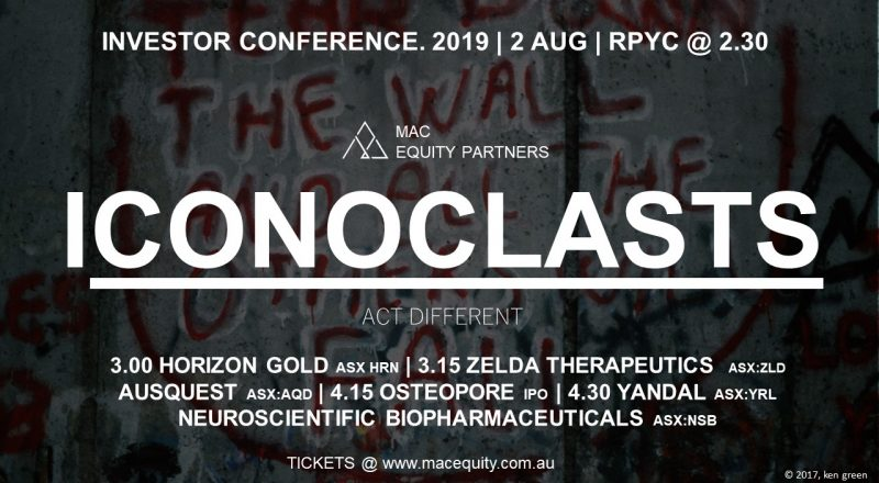 Iconoclasts Investor Conference 2019
