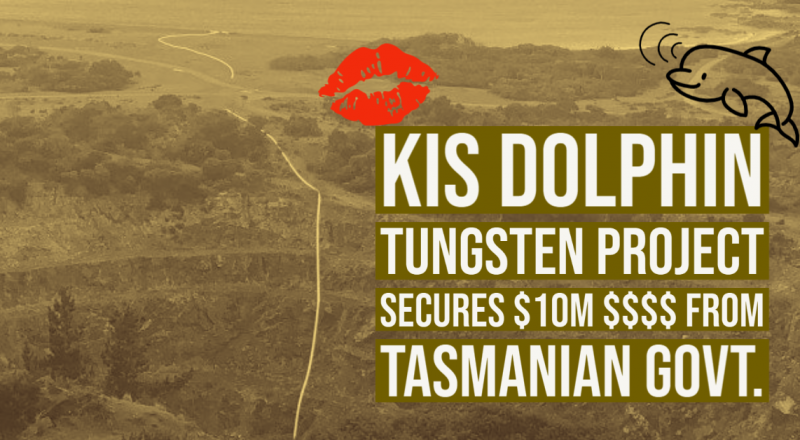 KIS | Dolphin Tungsten Project   secures $10 million in Tasmanian Government loan finance support